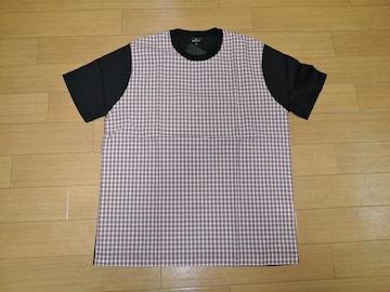 新品ポールスミスPaul SmithカットソーL黒チェック柄Tシャツ