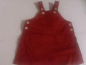 90 BRANSHES 赤のデニムジャンパースカート
