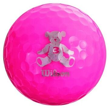 ゴルフボール BEAR3 1ダース 12個入り ピンク