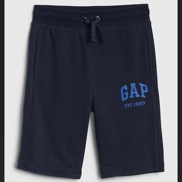 新品 GAP☆130 ロゴ ハーフパンツ ネイビー ギャップ