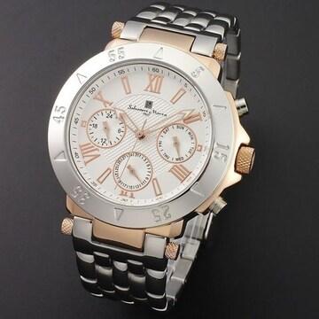 Salvatore Marra(サルバトーレマーラ)メンズ腕時計 SM14118-PGWH