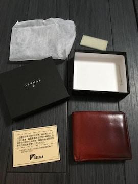 ユハク yuhaku 二つ折り財布 赤 送料込み