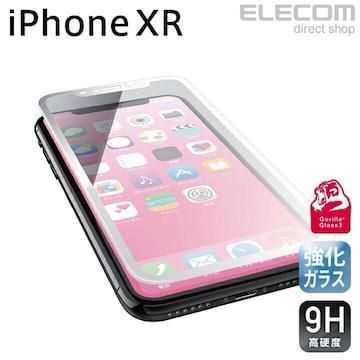エレコム iPhoneXR フルカバー ゴリラ PM-A18CFLGGRGOW