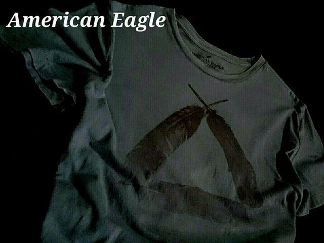 【アメリカンイーグル】Vintage ネイティブアメリカン Tシャツ US−L(L〜XL)/Green  < ブランドの