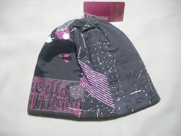 wb270 女 BILLABONG ビラボン ニット帽 グレー