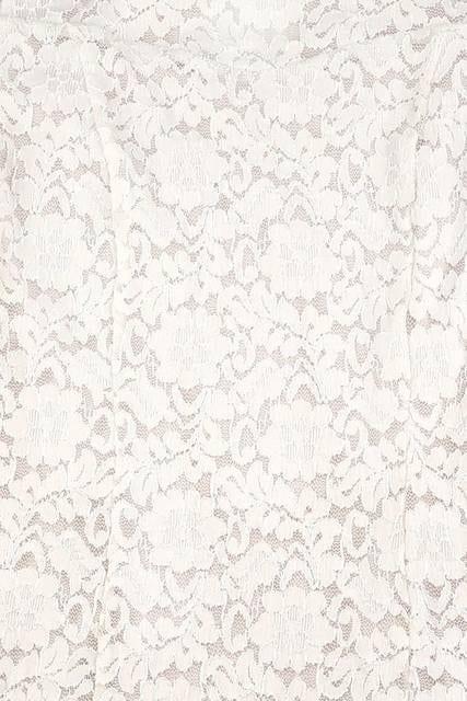 ミシェルマカロン☆ベーシックオールレースワンピ☆ホワイト☆S☆新品タグ付き < ブランドの