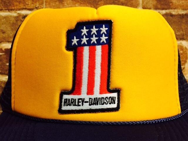 表記F/新品!ハーレー 刺繍 ワッペン No1 メッシュキャップ 帽子 バイク バイカー 6 < 男性ファッションの