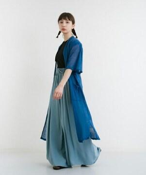 ☆麻混フレアースリーブロングカーディガン☆新品タグ付き