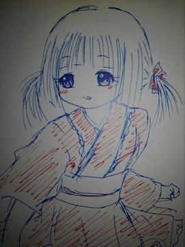 青森県の女の子マグリットちゃん�@オリジナル自作イラスト