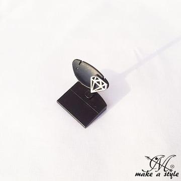 ダイヤモンド DIAMOND スタッズ ピアス HIPHOP シルバー 銀 622