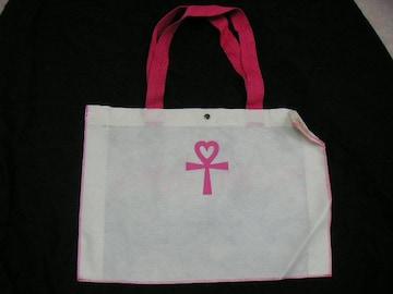 ALBA ROSA ショップ袋 ホワイト×ピンク