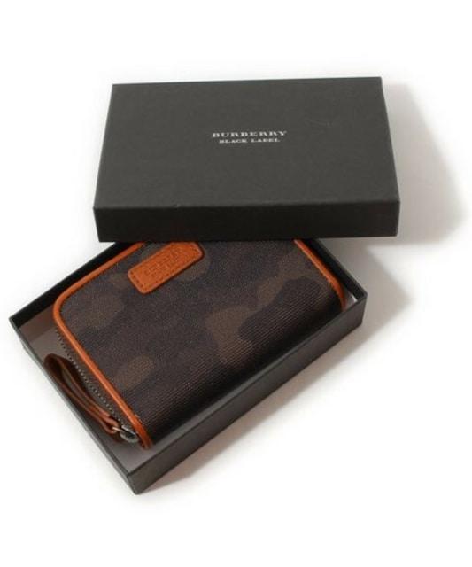 ☆バーバリーブラックレーベル カモフラ/迷彩 キーケース付き 財布☆男女兼用  < ブランドの
