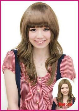 【即決】Wigs2you☆W-8104★前髪ウィッグ★ぱっつん★ブラウン