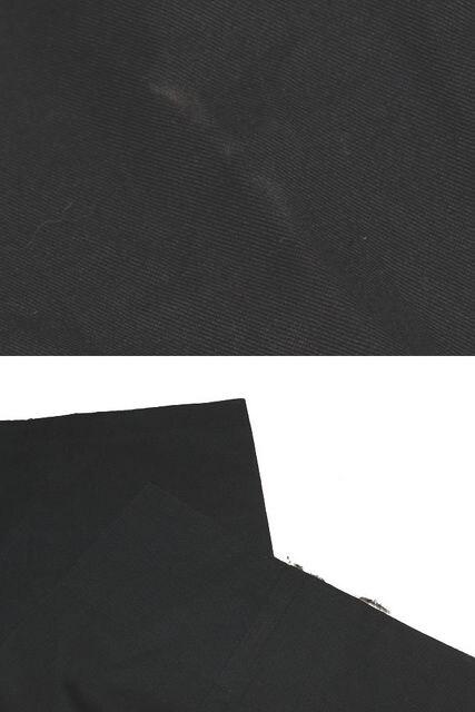 GIORGIO ARMANI ジョルジオアルマーニ コットンパンツ ブラック < ブランドの