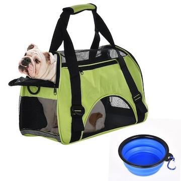 犬猫用ペットキャリーバッグ中小型犬用軽い折りたたみ