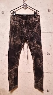 新品KMRIIケムリ Double Zip  Skinny Pants 2 BLACKKHAKI