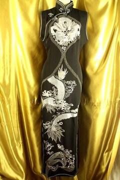 ★10年着れる!最高級★ドラゴン刺★チャイナドレス★定¥158.000