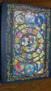 新品★非売品『ディズニーいっぱい柄バスタオル』Disney好き