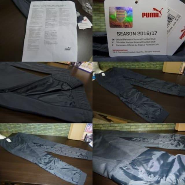 送料込(XL灰)プーマ ウーブンパンツ 749789 アーセナル 裾リブ&ファスナー < レジャー/スポーツの