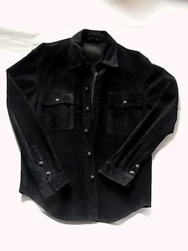 エーアンドジーA&Gスエード レザー シャツ ジャケット革