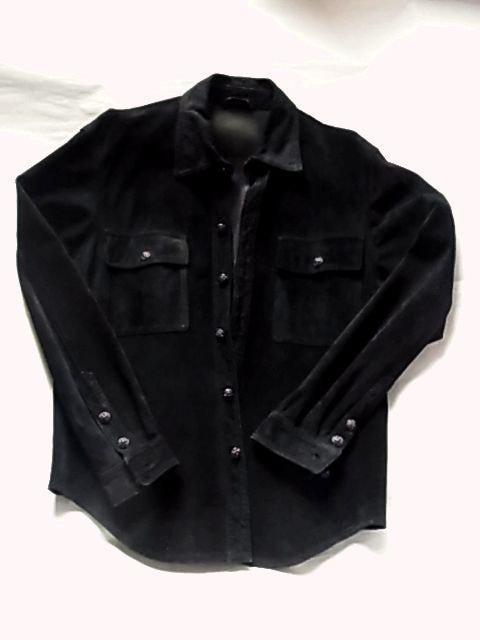 エーアンドジーA&Gスエード レザー シャツ ジャケット革  < ブランドの
