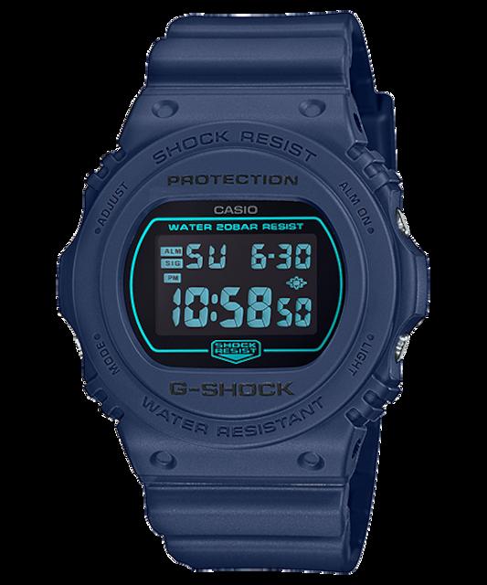 送料無料 G-SHOCK CASIO カシオ デジタル腕時計 ネイビー  < ブランドの