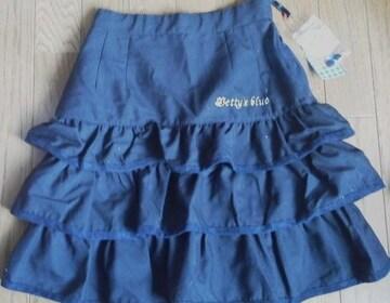 新品★ベティーズブルー(BETTY'S BLUE) 黒フリルスカ−ト