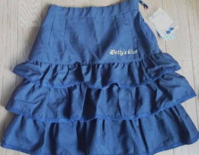 新品★ベティーズブルー(BETTY'S BLUE) 黒フリルスカ−ト  < キッズ/ベビーの