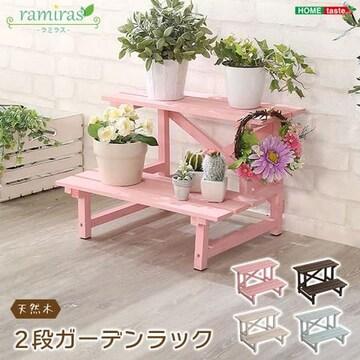 木製2段ガーデンラック【ramiras-ラミラス-】SH-FLW450TBT