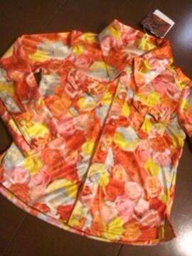 ●BACK ALLEY● 薔薇柄シャツ 100 男女 新タグ付
