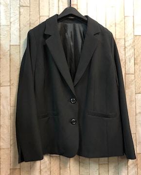 新品☆21号3Lきれいめ黒ジャケット フォーマルもストレッチj561