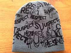新品。ロゴ ニットキャップ グレー ニット帽