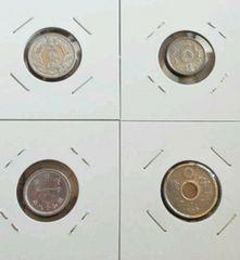 ★ 古銭 ★ 銀色 4枚セット 格安 送無 ビンテージ