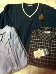 男児150☆ラルフローレンシャツ&アーノルドパーマニットセーター