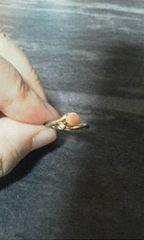 小さな天然石サンゴリング