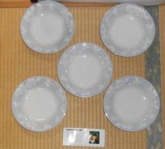 世界的デザイナー桂由美デザインかわいい花の皿5枚新品