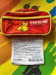 【未使用】ポケモン2005当りくじ*ダブルペンケース*ピカチュウ