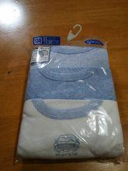 長袖丸首シャツ、3枚組