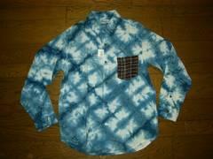 新品ガイジンメイドGAIJIN MADEインディゴ゙染めシャツSハリラン