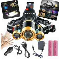 超強力LED ヘッドライト 5000ルーメン 登山  散歩 アウトドア 夜釣り