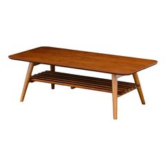 リビングテーブル(折り畳み式・棚付き) ブラウン VT40110TDB