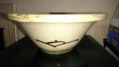 織部鉄釉緑釉色絵深鉢
