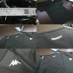 送料込(O黒)カッパ KM512UT73 半袖インナーシャツ 薄手 メッシュ 伸縮 V首
