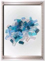 ¥75均一★『長方形カットビーズ』8色Mix[ガラス]100粒♪5mm