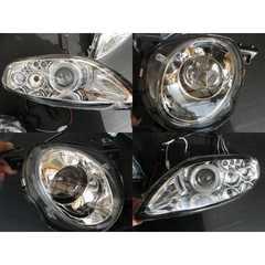 トヨタ LEDポジション&イカリング付 プロジェクターヘッドライト  インナークローム ソアラ30系