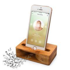 激安商品♪木製スピーカー iPhoneスタンド スマホ