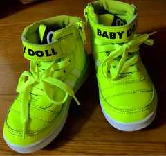 BABY DOLL シューズ  17.0cm イエロー