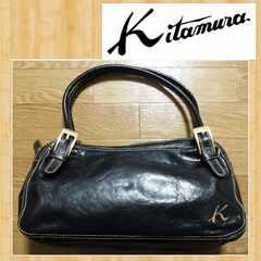 Kitamura キタムラ 購入3万円 レザーショルダーバッグ 本革 美品 ハンドバッグ
