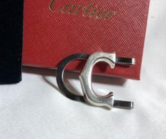 正規美 Cartierカルティエ 立体Cロゴマネークリップ SV925 財布 札入れ ウォレット