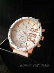 BIGフェイスWHITE/DIESELディーゼルtypeクロノ腕時計